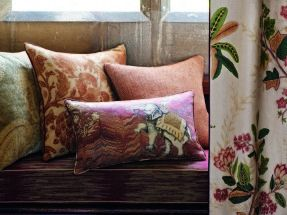 Perdele si tapet Zoffany – Jaipur FB Cushion Group Red