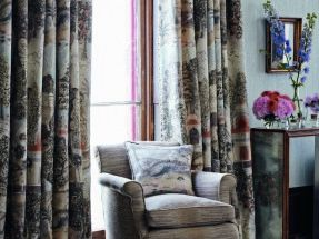Perdele si tapet Zoffany – Peacock Garden FB Curtains