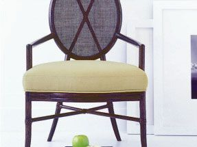 Mobilier Barbara Barry – Oval X Back Arm Chair