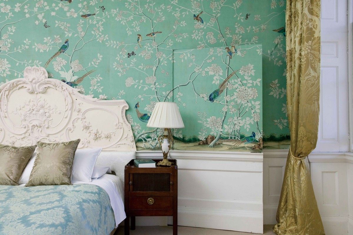 Perdele si tapet De Gournay - Kimberley Hall