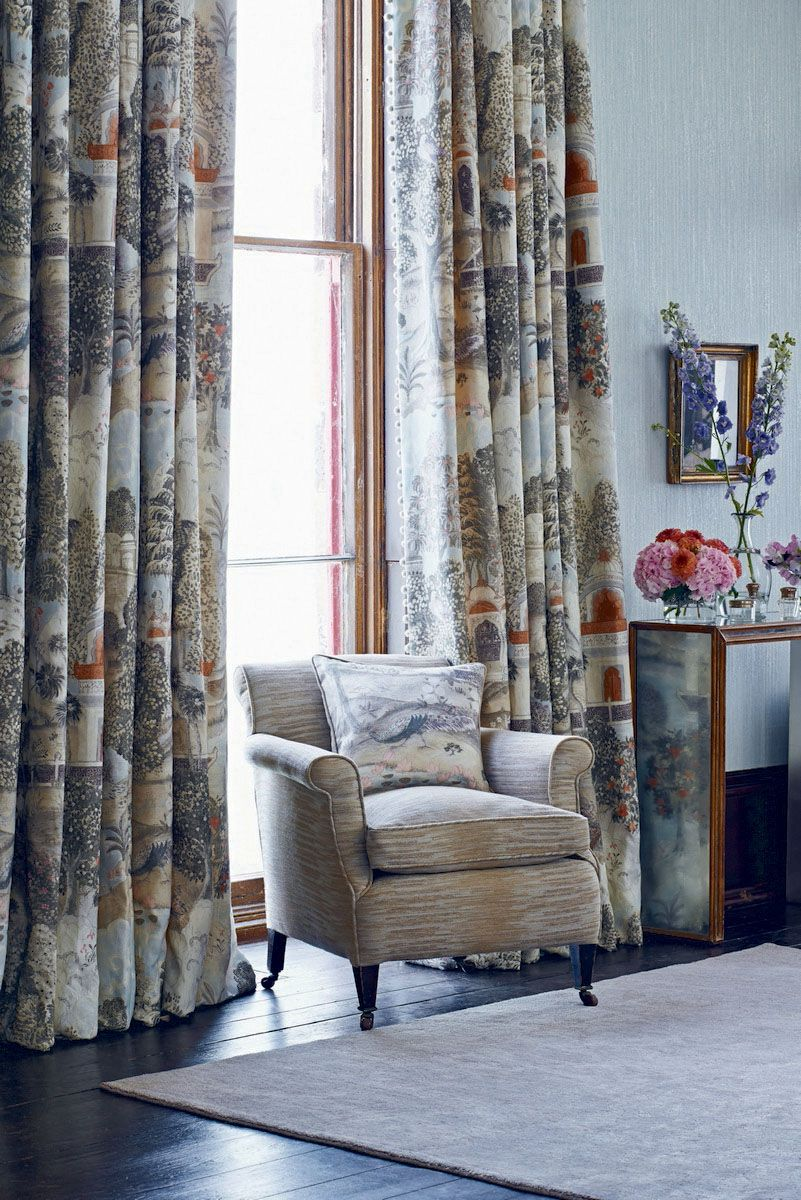Perdele si tapet Zoffany - Peacock Garden FB Curtains