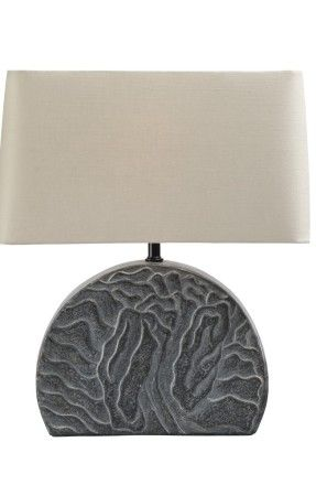 Obiect de iluminat Robert Kuo – Shan Table Lamp, Black Marble