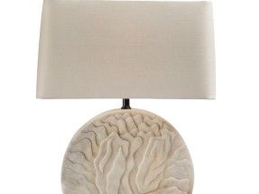 Obiect de iluminat Robert Kuo – Shan Table Lamp, White Marble
