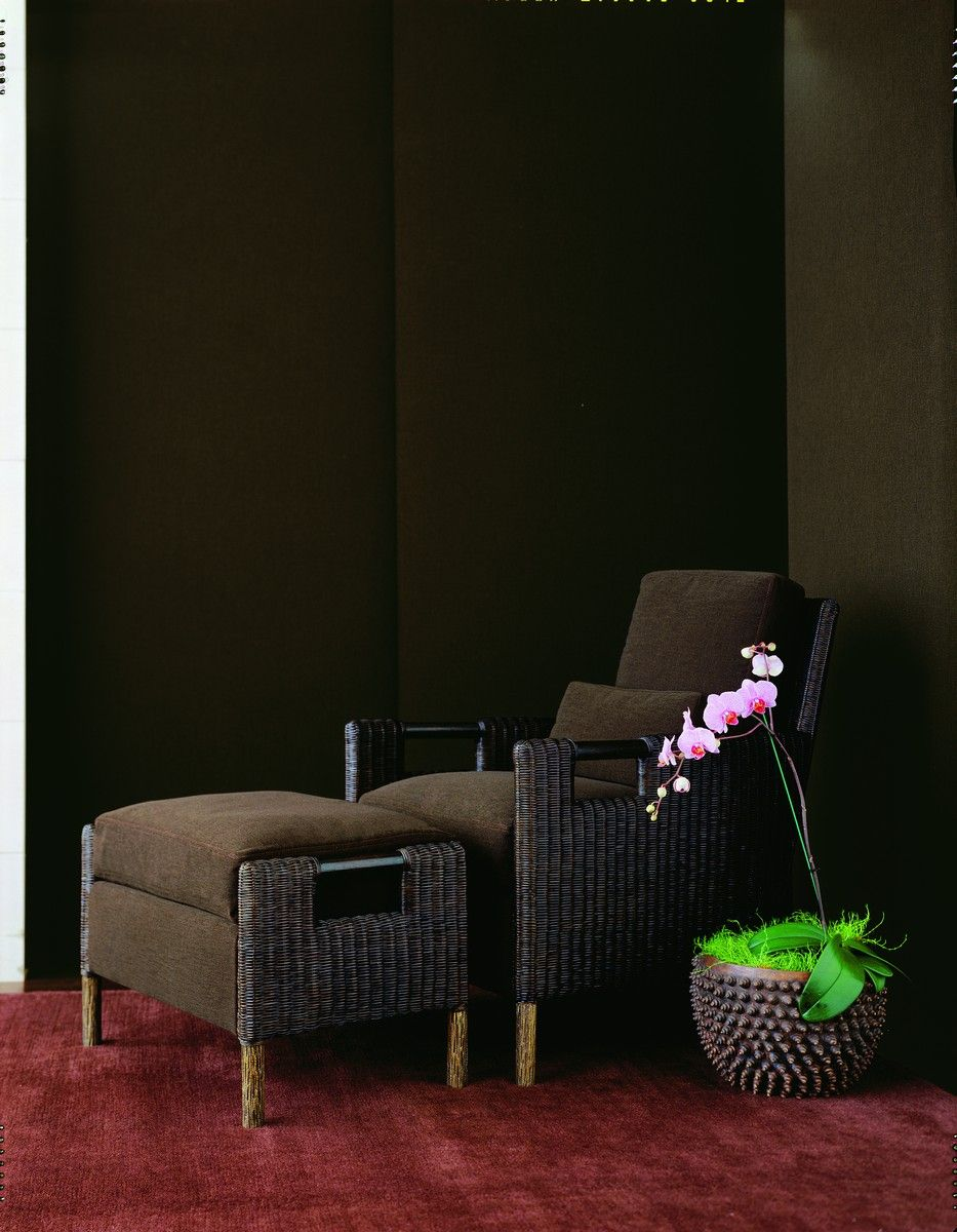 Mobilier Thomas Pheasant - TPI Brown Club and Ottoman