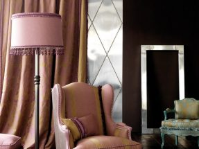 Curtains and wallpaper Houles