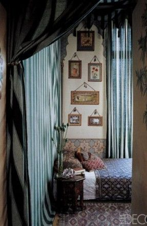 Iksel curtains and wallpaper