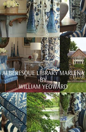 Designers Guild Catalogue: Alberesque Library Marlena by William Yeoward