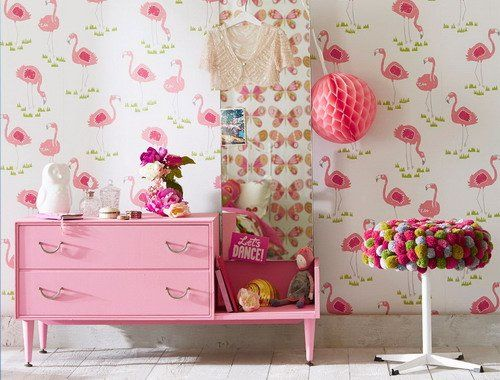 Scion guess who felicity flamingo wallpaper Kids
