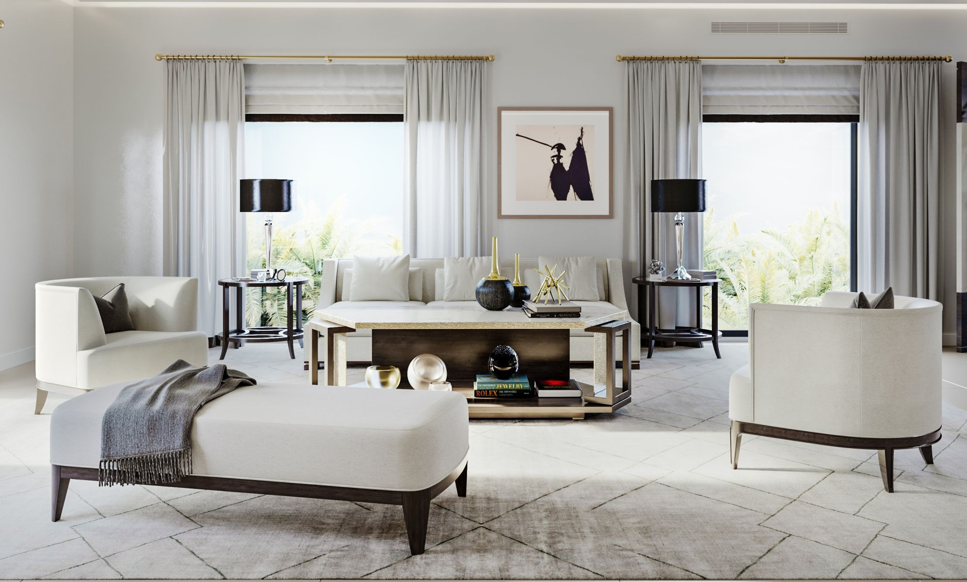 Mobilier Shepel - Living Natalie sofa & Billy Chairs